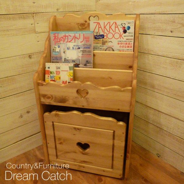 画像1: カントリー家具 ディスプレイブックキャビネット (1)
