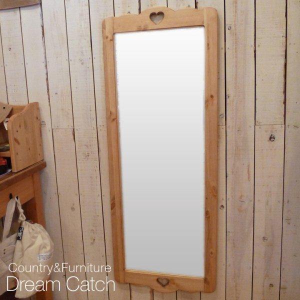画像1: カントリー家具 ロングミラー (1)