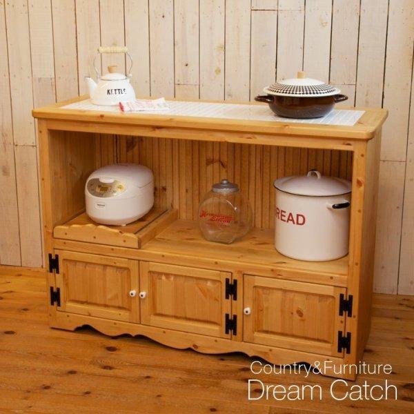 画像1: カントリー家具 カウンターキャビネット (1)