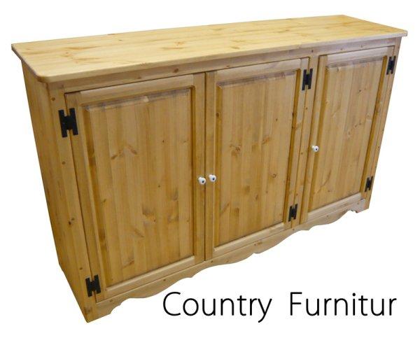 画像1: カントリー家具 シューズキャビネットW1500 (1)