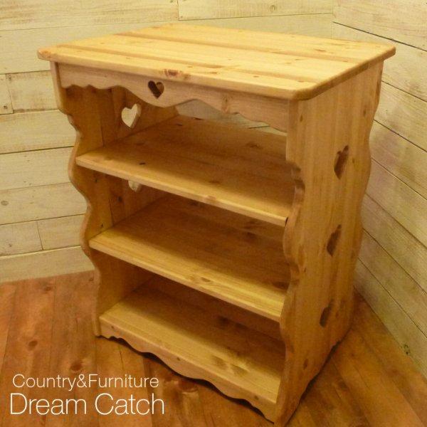 画像1: カントリー家具 ハートのキッチンワゴン (1)