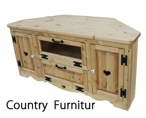 画像1: カントリー家具 コーナーテレビボードW1200 (1)