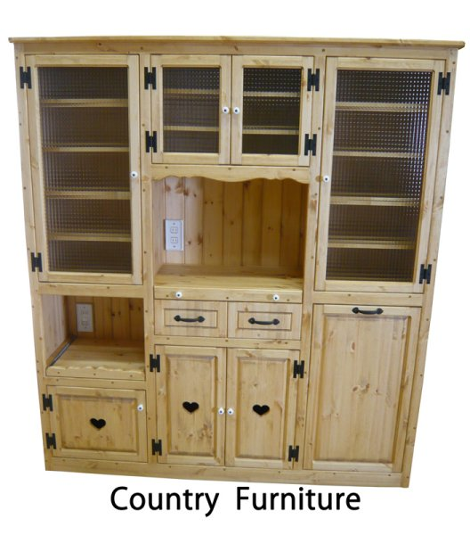 画像1: カントリー家具 カップボードW1600 (1)