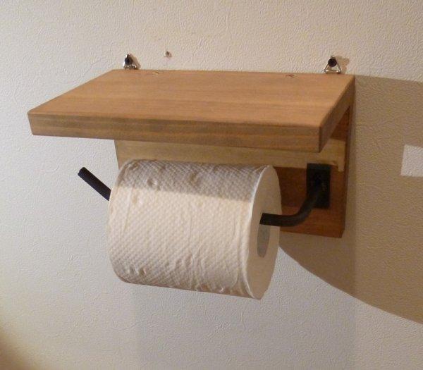 画像1: アイアン家具 トイレットペーパーホルダー (1)