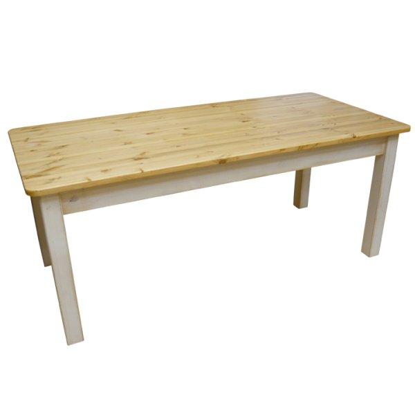画像1: カントリー家具 アンティーク風ダイニングテーブルW1500引き出し無し (1)