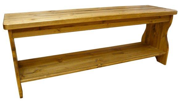 画像1: カントリー家具 カントリーベンチ (1)