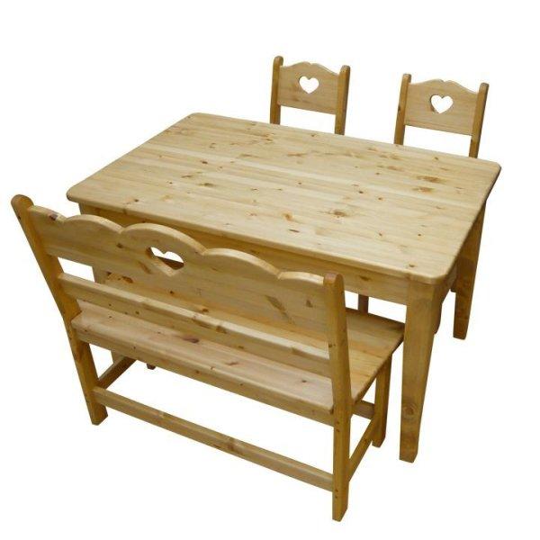画像1: カントリー家具 ダイニングテーブル4点セットW1200 (1)