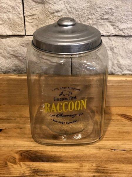 画像1: ガラスジャー RACCOON (1)