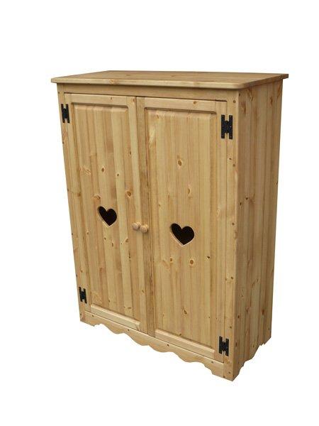 画像1: カントリー家具 シューズキャビネットロータイプ (1)