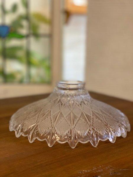 画像1: レトロガラスシェードランプ (1)